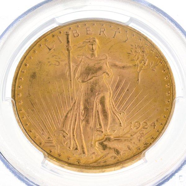 *1924-D $20 U.S. Saint Gaudens Type Gold Coin