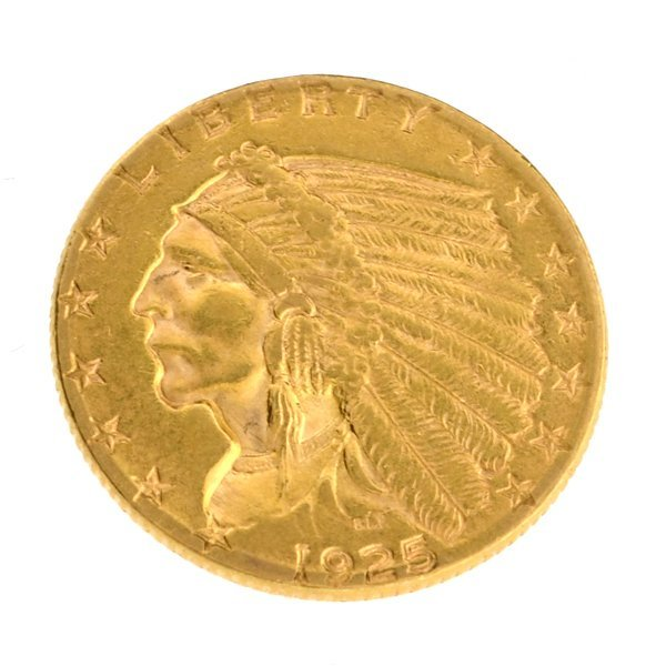 *1925-D $2.5 U.S. Indian Head Gold Coin - Investment