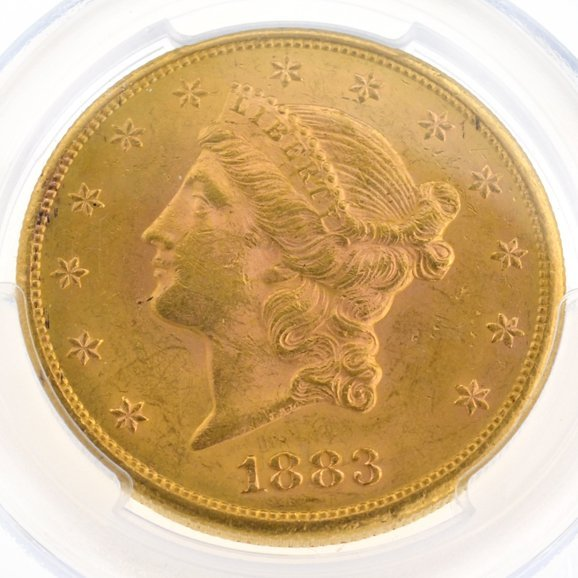 *1883-S $20 U.S. PCGS AU58 Double Eagle Gold Piece Coin