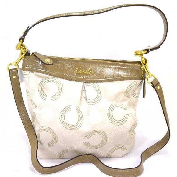 New Coach Ashley Dotted Hippie Khaki Bag