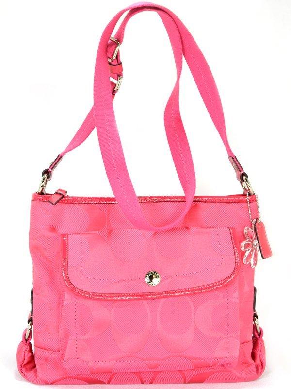 New Coach Kyra Signature Pink File Crossbody Bag