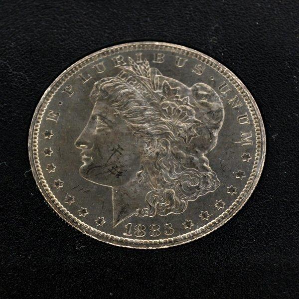 1883-CC Morgan Uncirculated Silver Dollar Coin