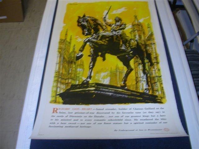 Richard The Lionheart by John Finnie on Linen -P-