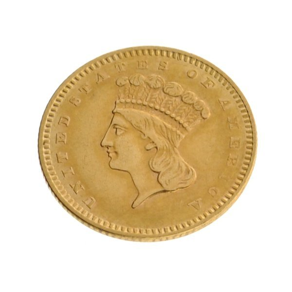 1856 $1 U.S. Indian Head Type Gold Coin - Investment