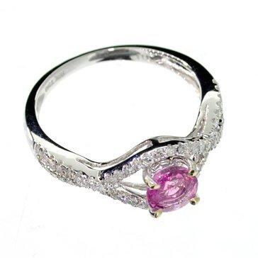 APP: 5k 18kt White Gold, 0k Sapphire & Diamond Ring