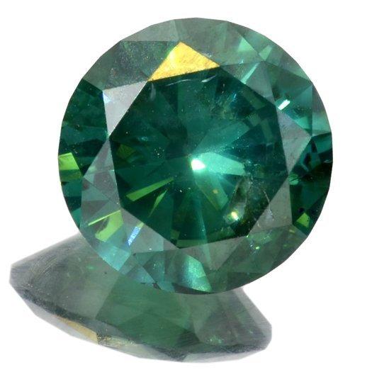 APP: 11k *1.50CT Round Cut Blue-Green Diamond Gemstone