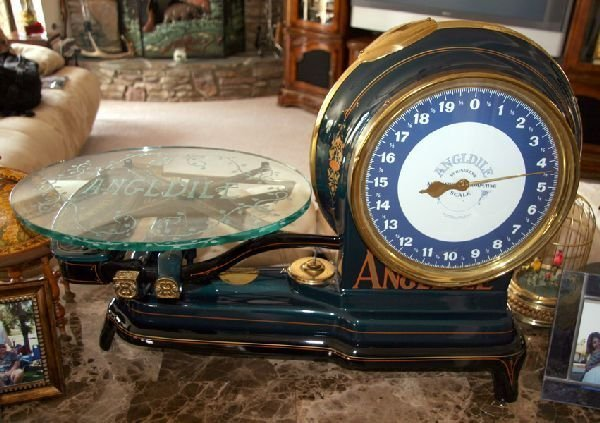 Restored Antique Angle Dial Scale -P-