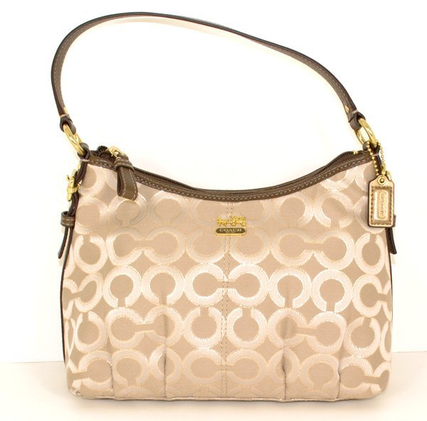 New Coach- Madison- Khaki & Beige Top Handle Purse