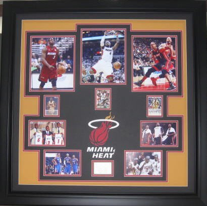 Miami Heat Lebron, Wade, & Bosh - Authentic Signatures