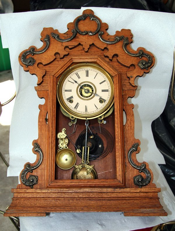 Antique American Kitchen Clock- Sold As Is -P-