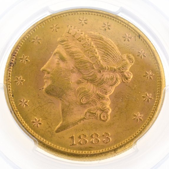 *1883-S $20 U.S. PCGS AU58 Double Eagle Gold Piece Coin