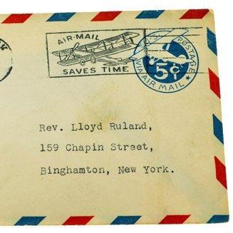 DV-733 Dr Jim Old Postal History C1929 AIR MAIL NJ