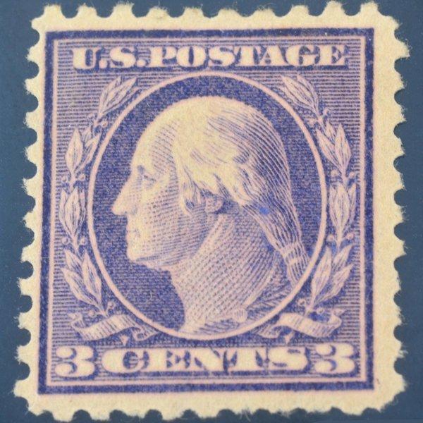 0905 US #464 1916-17  3c Washington Perf.10 MH Stamp