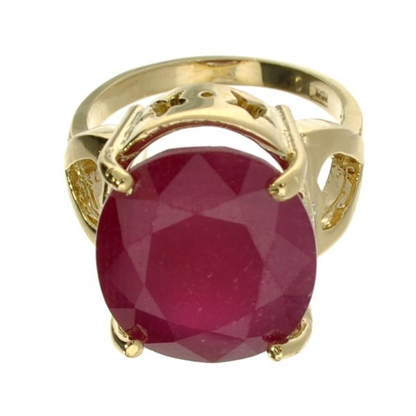 APP: 13k 14kt Yellow & White Gold, Ruby & Diamond Ring