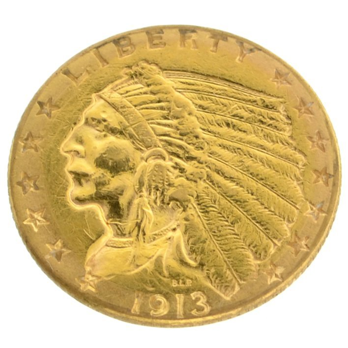 *1913 $2.5 U.S. Indian Head Gold Coin - Investment