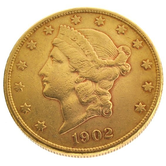 1902-S $20 U.S. Liberty Head Gold Coin - Investment