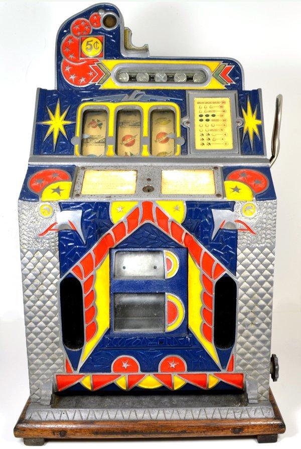 5 Cent Mills Novelly Silent Jackpot c1931 Slot Machine