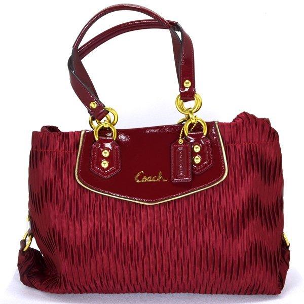 New Coach Ashley Gathered Signature Carryall Handbag