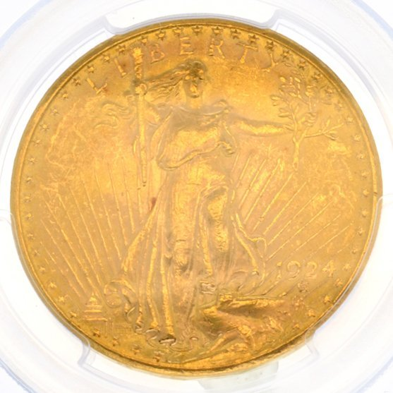 *1924 $20 U.S. Saint Gaudens Gold Coin - Investment