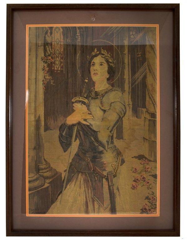 "*Early 1900's French Tapestry ""Joan Of Arc"" Frame 33X25"