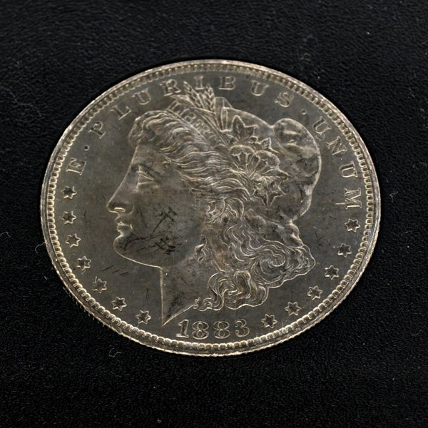 1883-CC Morgan Uncirculated Silver Dollar Coin