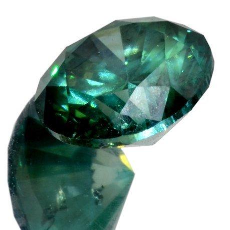 APP: 11k *1.26CT Round Cut Blue-Green Diamond Gemstone