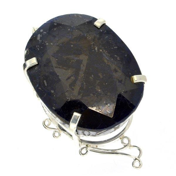 APP: 18k Sebastian 426CT Oval Sapphire & Silver Pendant