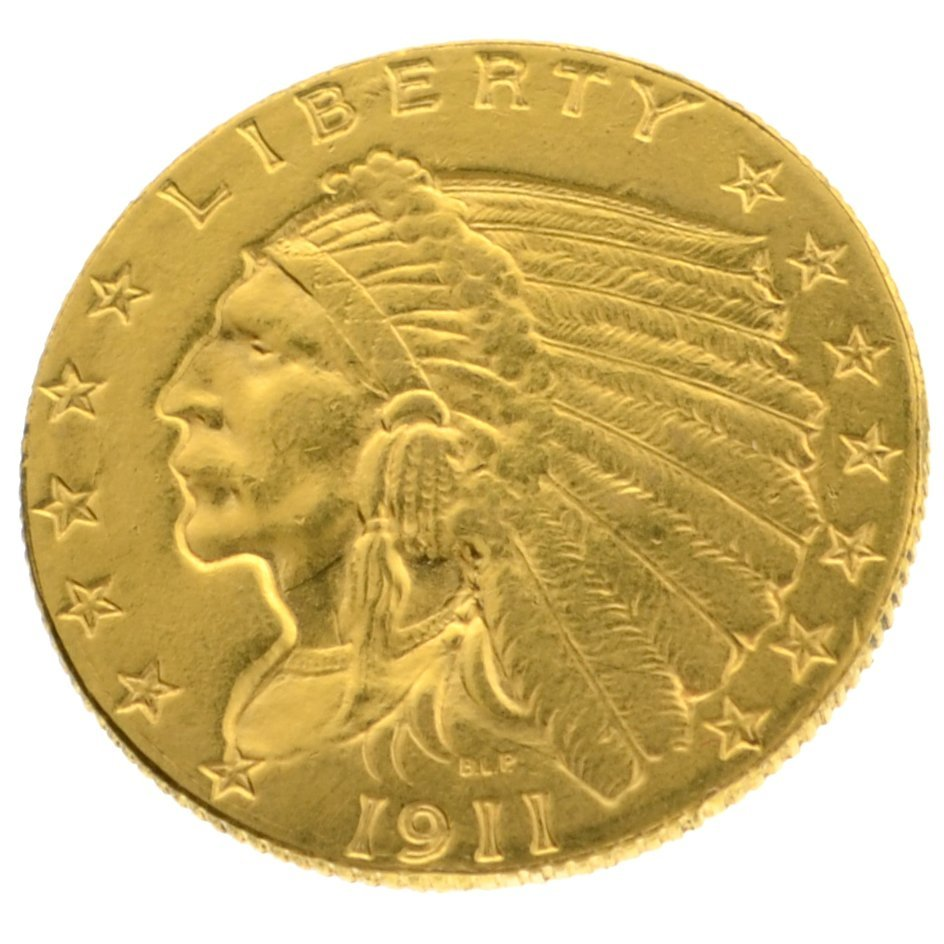 *1911 $2.5 U.S. Indian Head Gold Coin - Investment