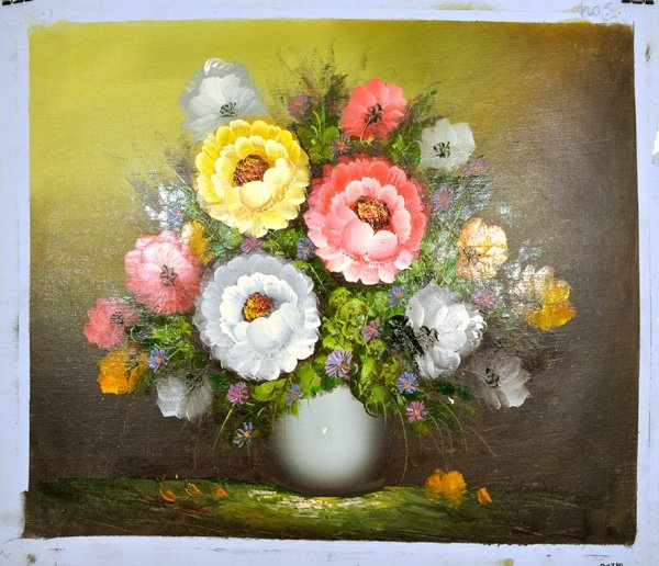 """Oil Painting- Bouquet of Flowers in a Vase- 24"""" x 27"""""""