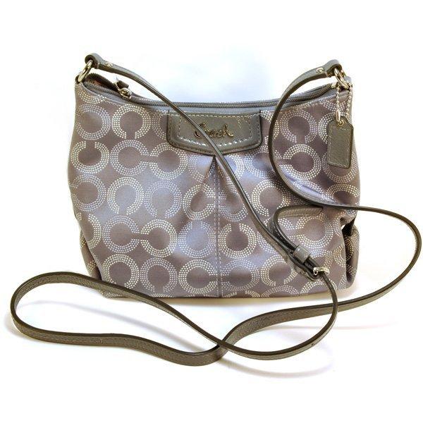 New Coach Ashley Dotted OP Art Swingpack Bag