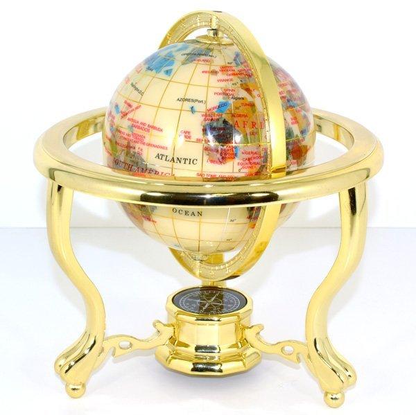 Natural Stone World Globe