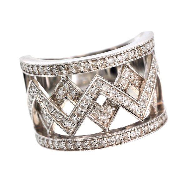 APP: 7k *18 kt. White Gold, 0.78CT Diamond Ring