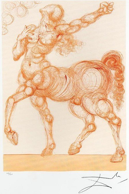 SALVADOR DALI The Centaur Mini Print, Limited Edition