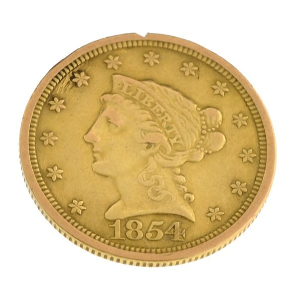 *1854 $2.50 U.S Coronet Type Gold Coin - Investment