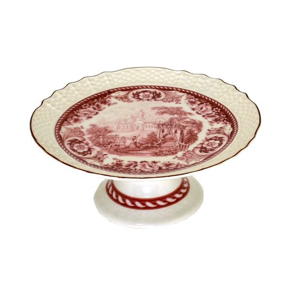 Red & White Tray