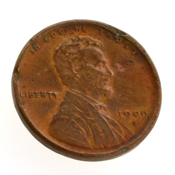 1909-S VDB Lincoln One Cent Coin - Investment