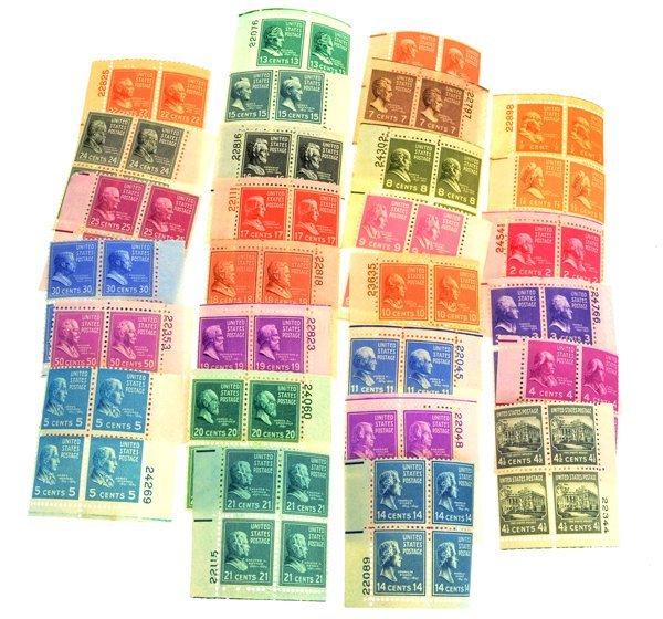 Scott #803 / 831 Mint NH Plate Blocks CV