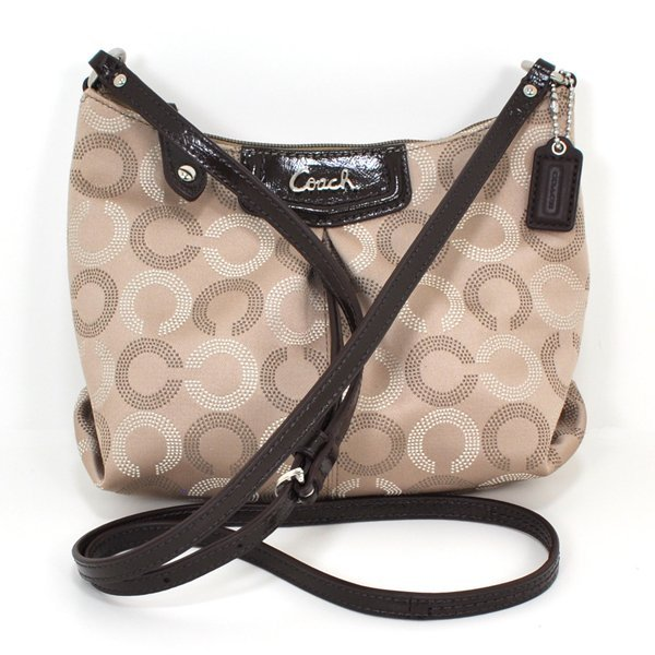 New Coach Ashley Dotted OP Art Swingpack Bag