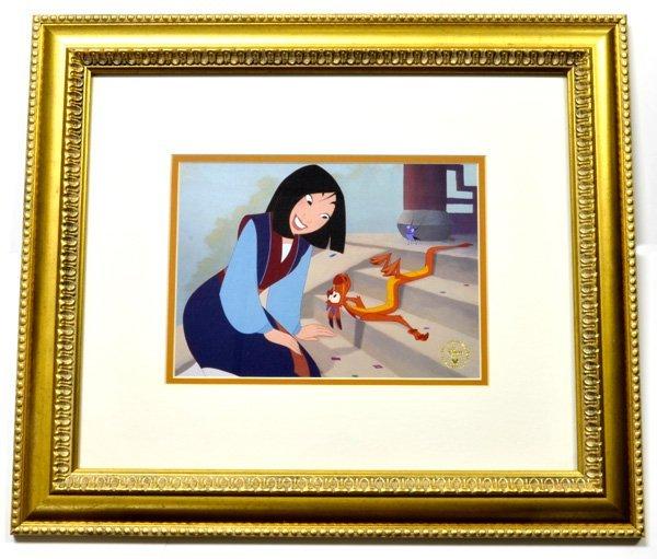 "Disney ""Mulan"" Print Rare Museum Framed Ltd. Edition"