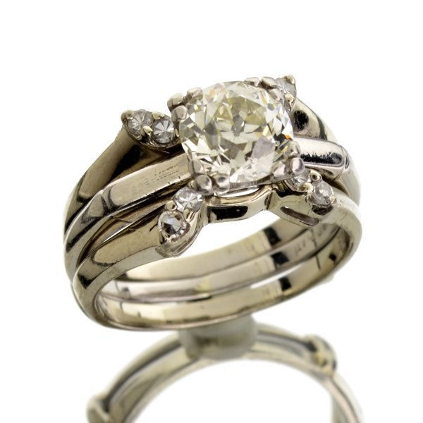 APP: 22k *1.72CT Old European Cut Genuine Diamond Ring