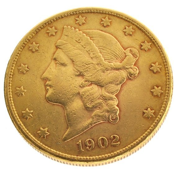 *1902-S $20 U.S. Liberty Head Gold Coin - Investment