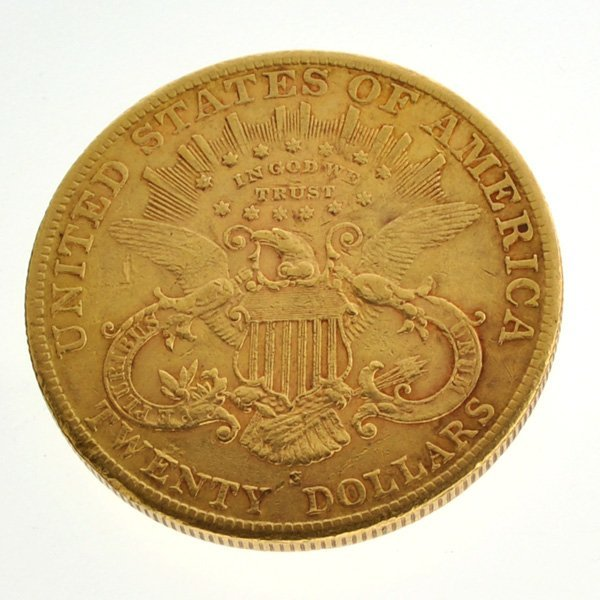 *1902-S $20 U.S. Liberty Head Gold Coin - Investment - 2