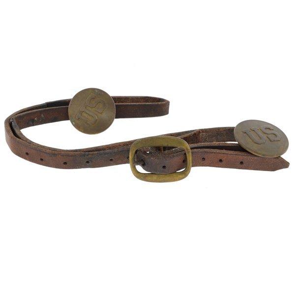 Cilvil War Era U.S. Horse Bridle Rossettes Brass Buckle