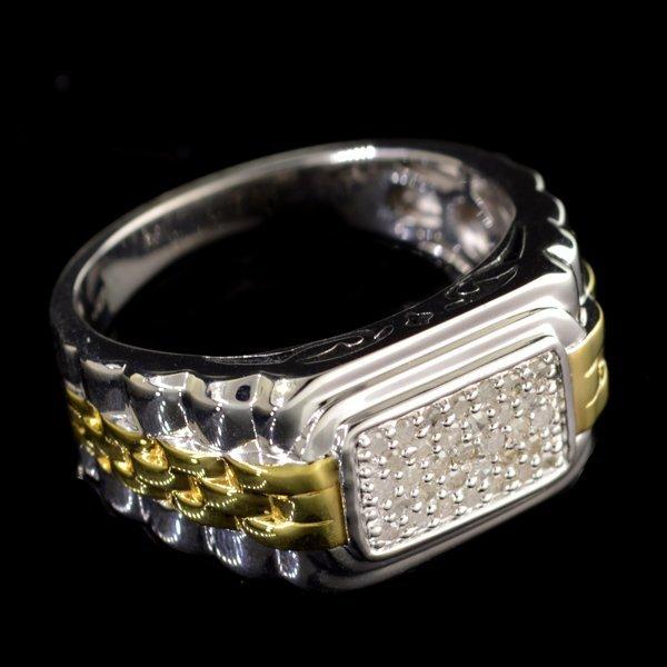 APP: 2k Diamond 14kt. White & Yellow Silver Ring