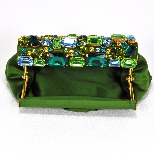 Prada Jeweled Satin Clutch Bag - 2