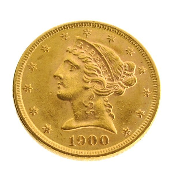 *1900 $5 U.S Liberty Head Gold Coin - Investment