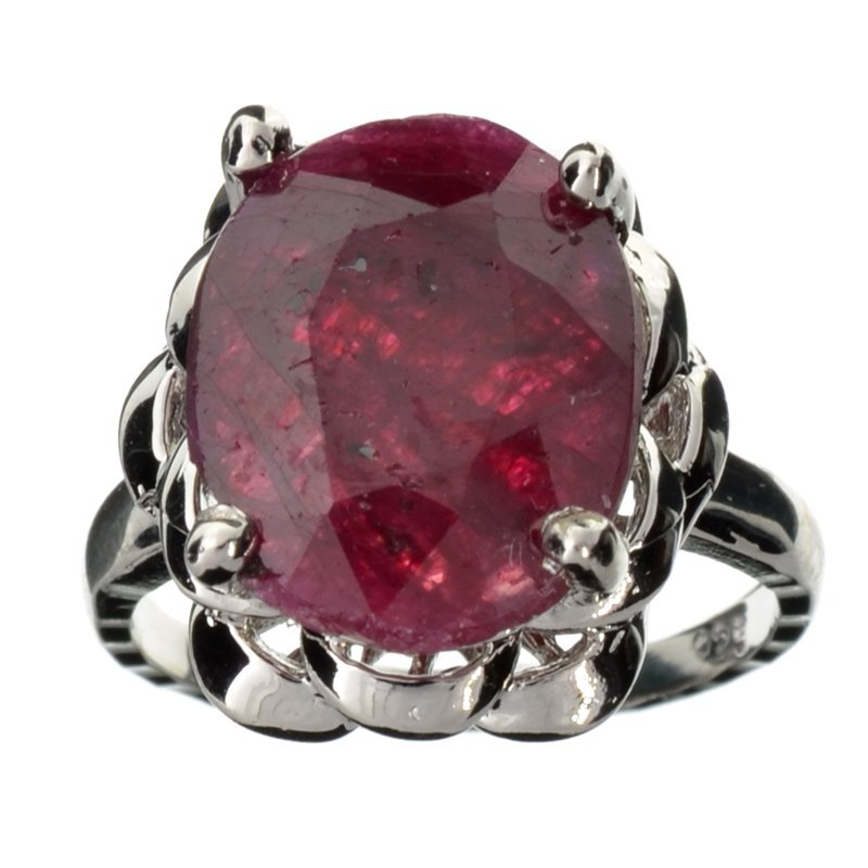 APP: 1k 5CT  Oval Cut Ruby & Sterl Silver Ring