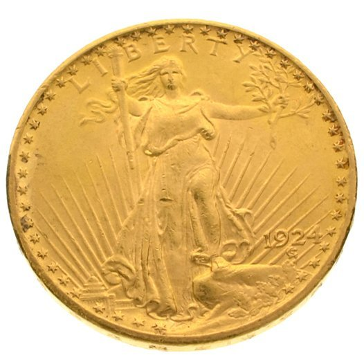 *1924 $20 U.S. Saint Gaudens Gold Coin