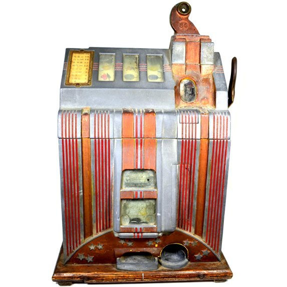 Unrestored Vintage 5 cent Slot Machine