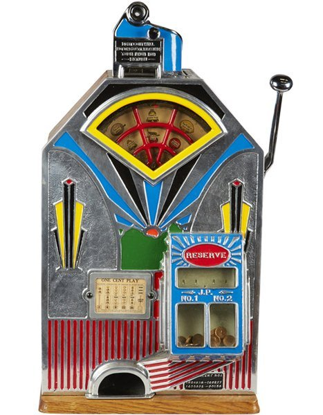 Extremely Rare 1-Cent Jennings Slot Machine c1933 -P-